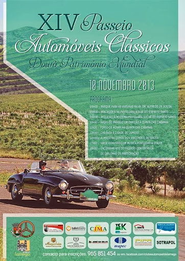 Programa - XIV Passeio de Automóveis Clássicos Douro Património Mundial