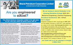 BPCL GATE 2017 Advertisement www.indgovtjobs.in