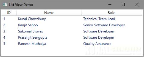 Sorting in a WPF ListView control (www.kunal-chowdhury.com)