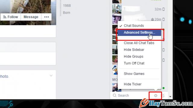 mở khóa chat facebook