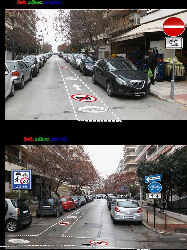 Umwandlung von Einbahnstrassen in beiden Richtiungen Radstreifen