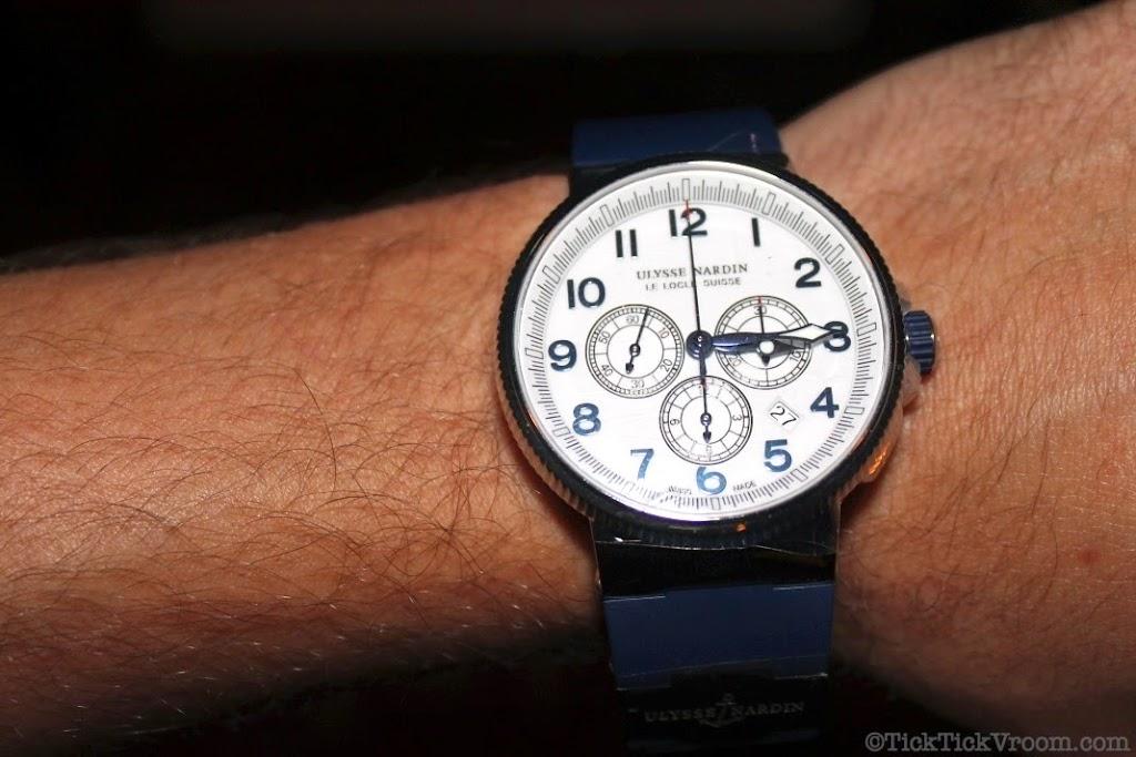 Ulysse Nardin Marine Chronograph Titanium Steel Blue Rubber 8592
