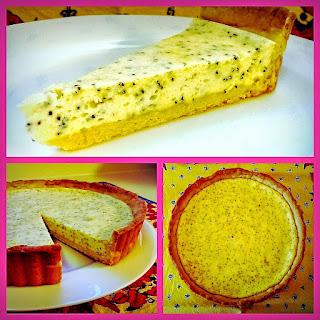 Lemon, Chèvre and Poppy Seed Tart with a Shortbread Crust