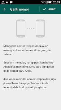 cara mudah ganti no telepon whatsapp