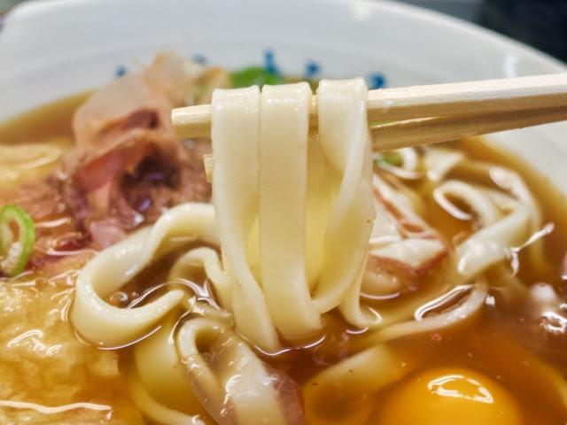 きしめんの麺