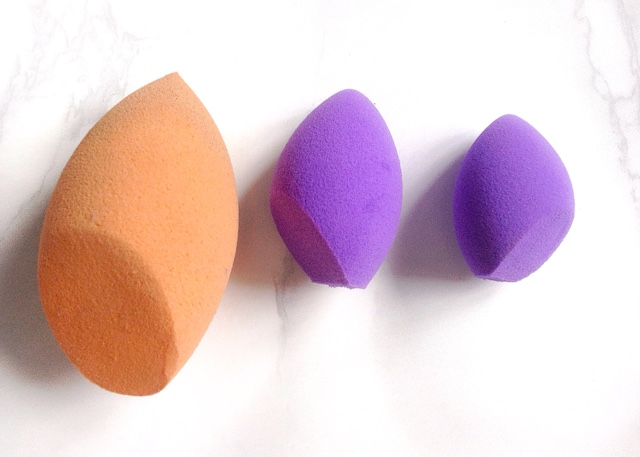 real techniques miracle mini eraser Sponge size comparison