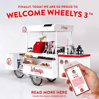 Lastcykel i lastcykelkafé Wheelys 3