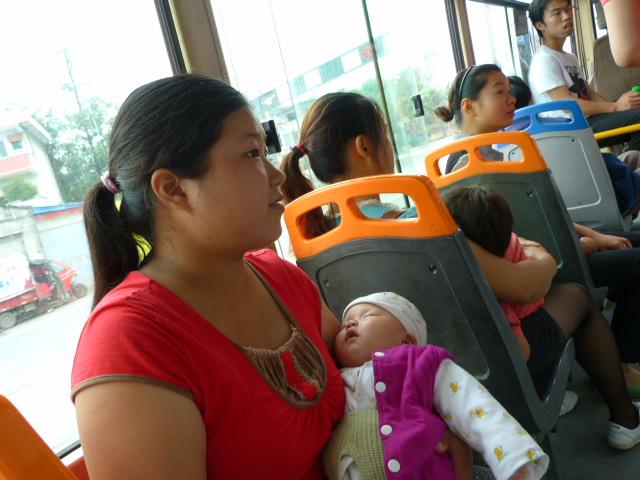retour dans le bus