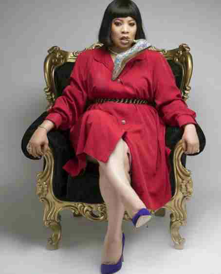 Monalisa Chinda poses with shoe in her mouth