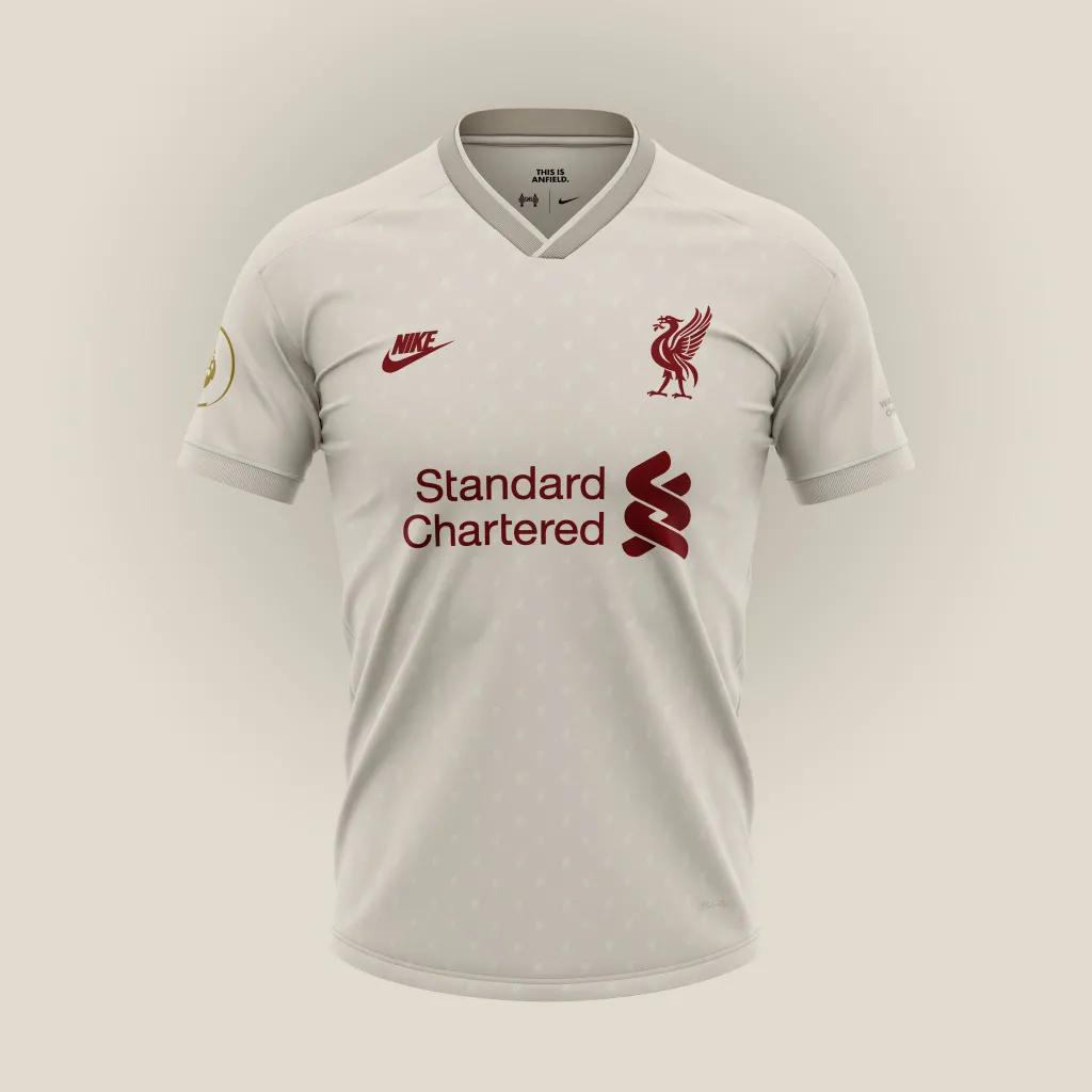 gambar desain terbaru Desain konsep jersey away liverpool untuk menandingin desain konsep Liverpool dari Nike