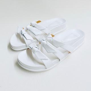 Alexandre Birman MINT White Leather Sandals