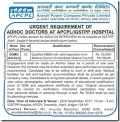 APCPL Doctors Notification 2017 www.indgovtjobs.in
