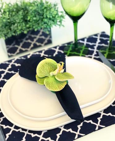 mesa posta lar doce casa azul marinho greenery