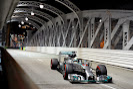 Lewis Hamilton, Mercedes W05 leads almost whole race