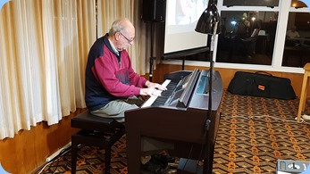 President Emeritus, George Watt, played the arrival music for us. Photo courtesy of Rod Moffat.