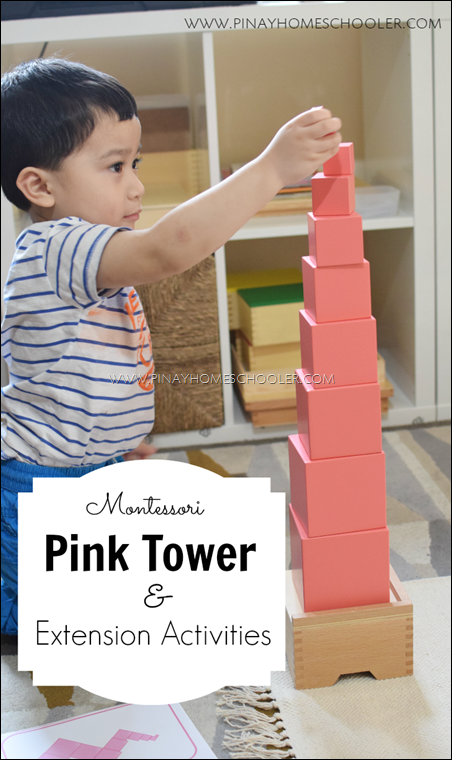 Montessori Sensorial Activity The Pink Tower and Extension Activities