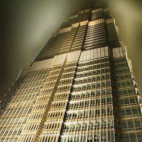 Skyscraper by Pravine Chester - Buildings & Architecture Office Buildings & Hotels ( vertical, building, skyscraper, architecture, photography, shanghai, china )