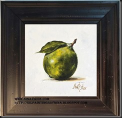 framed Lime 6x6