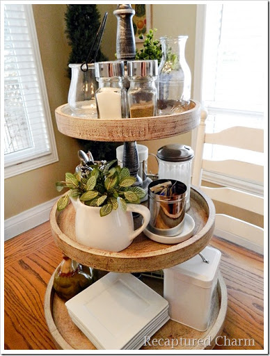 3 tiered platter 7a & Recaptured Charm: 3 Tiered Platter/Stand