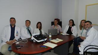 Miembros del comité técnico acompañados del director gerente de la Agencia Sanitaria Hospital de Poniente.