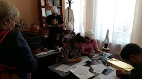 Туристы в гостях у библиотеки