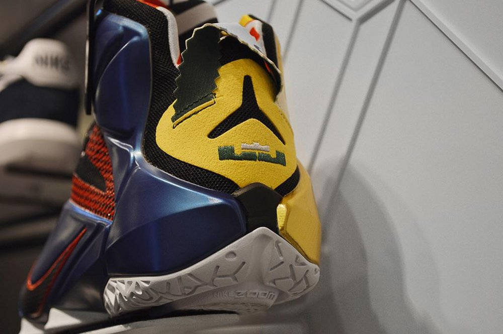 861feceb546 Closer Look at the Changed(!) Left What the LeBron 12 Shoe