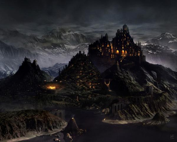 Dark Night Castle, Magical Landscapes 1