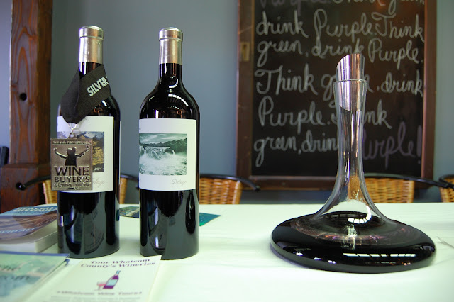 Glacial Lake Missoula's award-winning wines as presented at Purple Space. / Credit: Bellingham Whatcom County Tourism