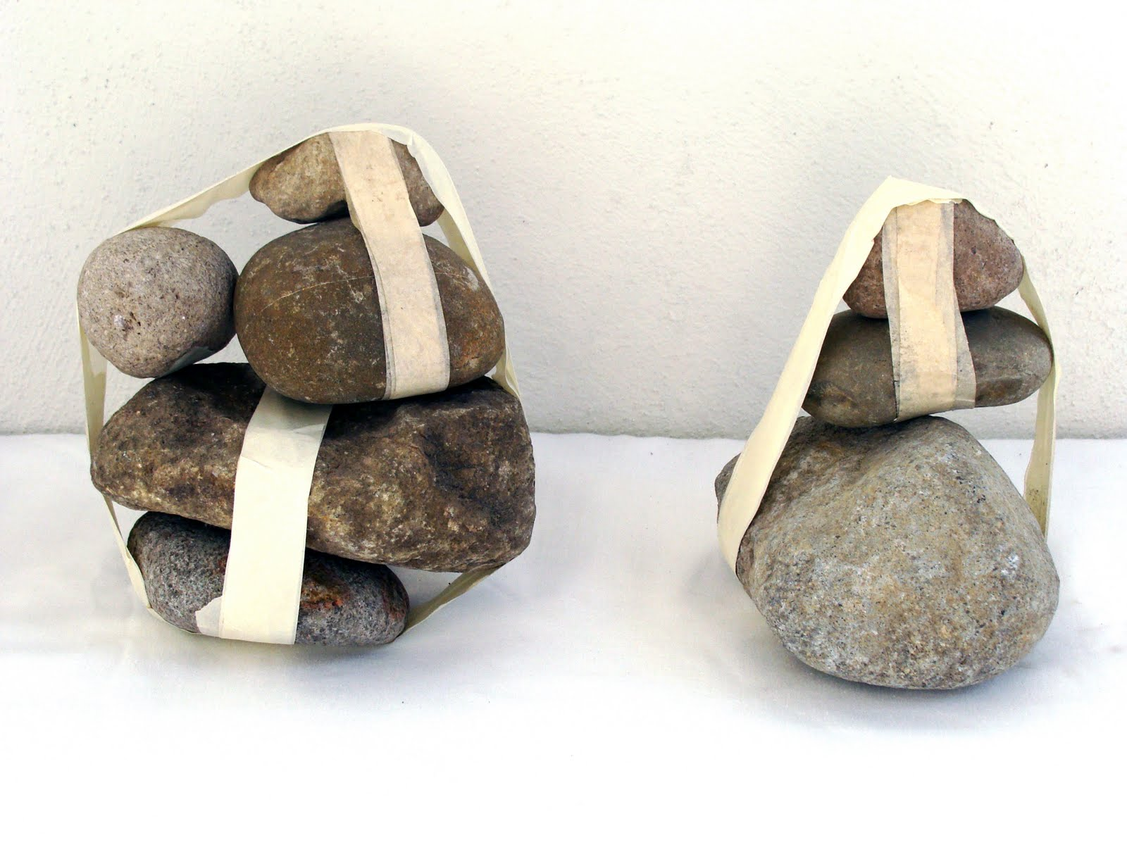 Stones tied with masking tape (VII & VIII)