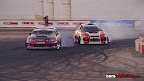 Toyota Soarer and Subaru Impreza in a drift battle.