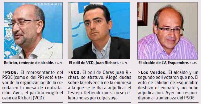Miembros del tripartito de Villena