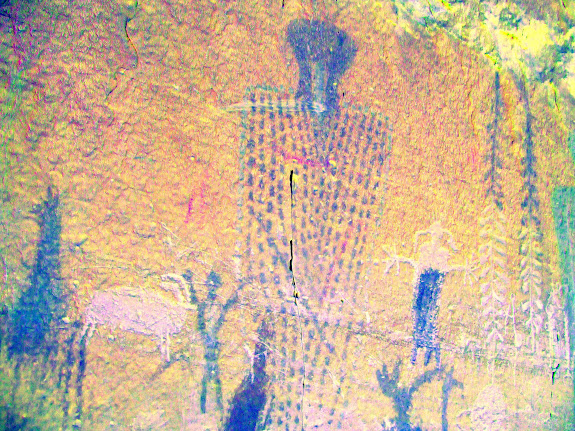Large figure with dotted body (DStretch enhanced)