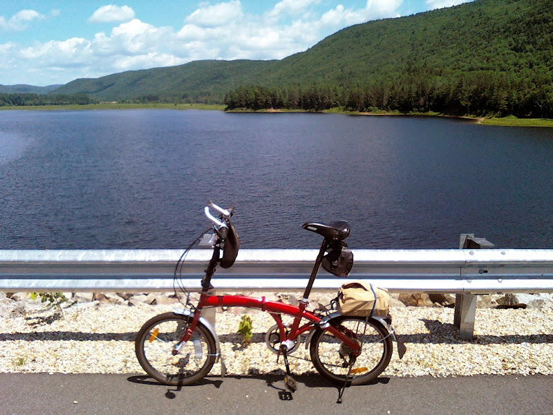 Folding Bike at Surry Dam