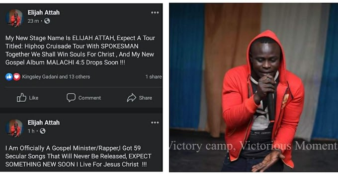 "Battle Rapper ""OneEyedPeace"" Quits Secular Rap, Now Goes By The Name ""Elijah Attah"""