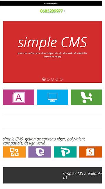 Bienvenue sur simple cms - simple CMS gestion de contenu simple et puissant - 768x1024e