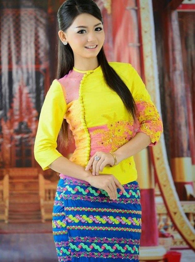 Fashion 2017 colors - Latest Myanmar Fashion Dress 2016 Fashionte
