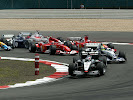 Kimi Raikkonen leads at the start