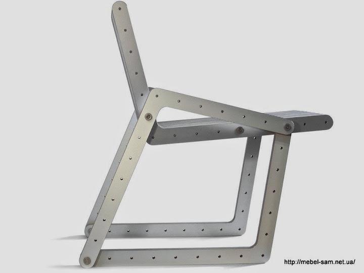 Сборное фанерное кресло вид сбоку