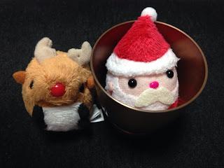 サンタさんとトナカイさんのお手玉とミニカップ