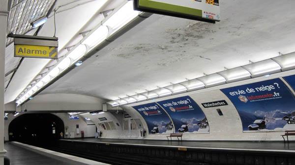 パリ地下鉄マルゼルブ駅