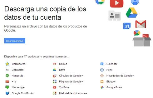 Cómo descargar un respaldo de tus datos en los servicios de Google
