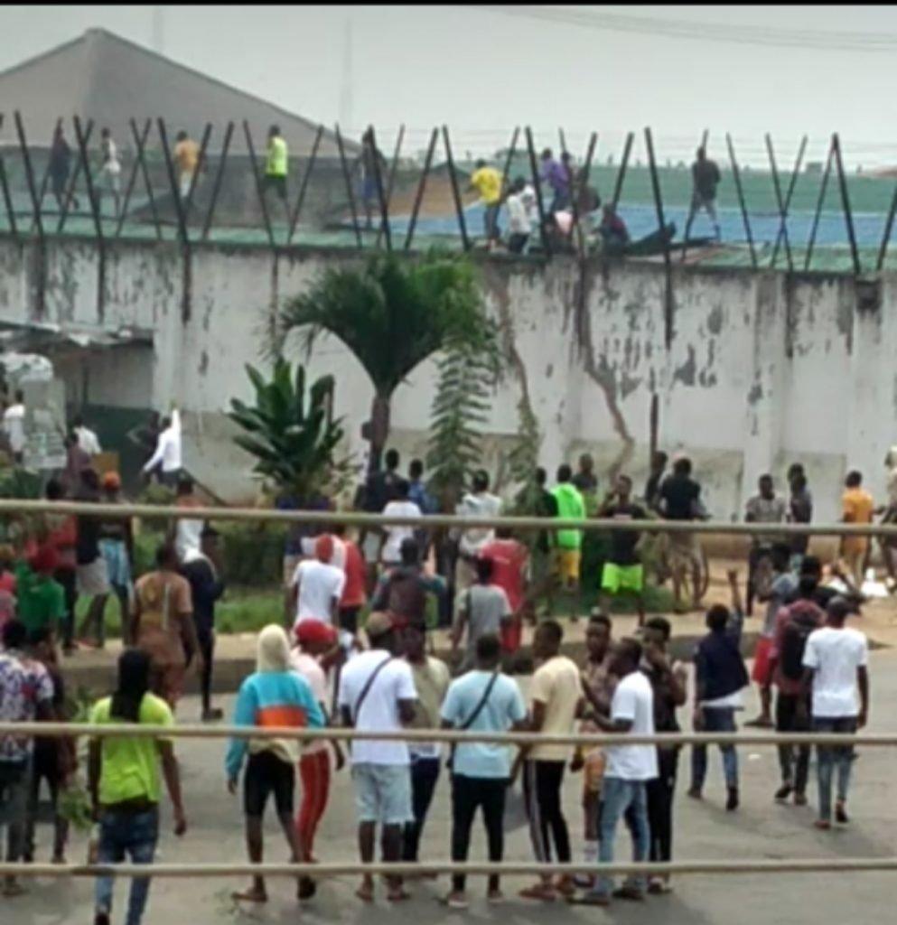 EndSARS: Protesters Break Benin Prison Wall, Free Inmates