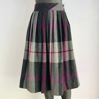 Diane von Furstenberg Vintage Plaid Skirt