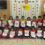 Valentine's Day Celebrated by Nursery Morning Section at Witty World, Chikoowadi (2017-2018)