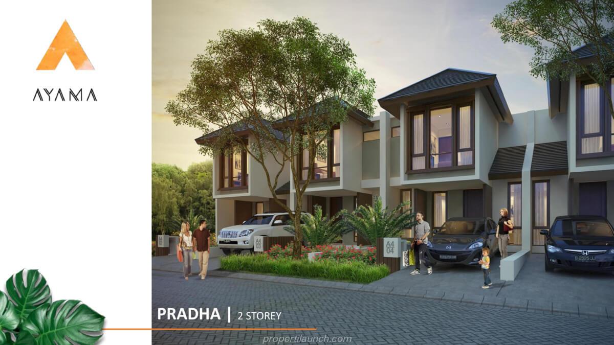 Rumah Ayama Bhumi Amala Tipe Pradha 2 lantai
