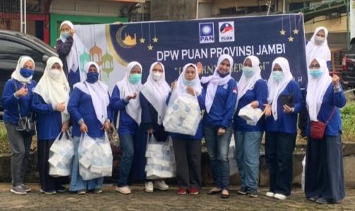 Indahnya Berbagi, DPW Puan Provinsi Jambi Berbagi Takjil