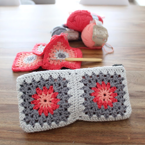 Not 2 late to craft: Cartera de ganxet i resultat del sorteig / Crochet granny square purse and giveaway results