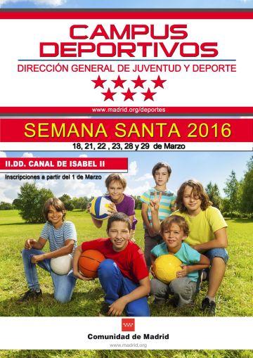 Campus infantil de Semana Santa en las Instalaciones Deportivas Canal de Isabel II