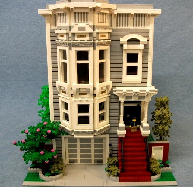 Detoyz shop lego moc full house for Custom built victorian homes