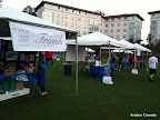 "The race ""expo"" area highlighting various cancer organizations around Atlanta as well as the Winship Cancer Institute."
